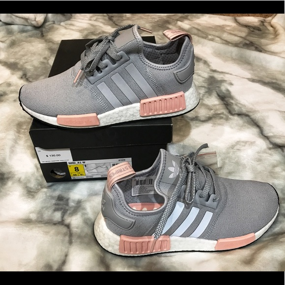 2cfd39634856e New Women s adidas nmd r1 pink grey 8 shoe in box
